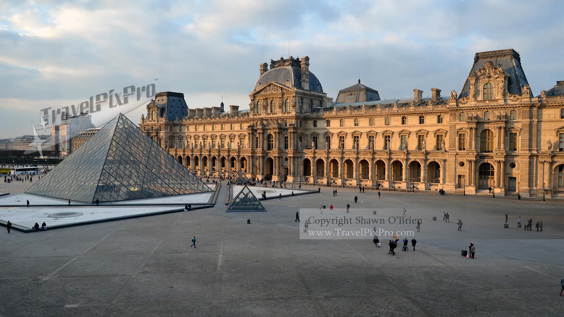 Paris' Louvre Palace & Pyramids