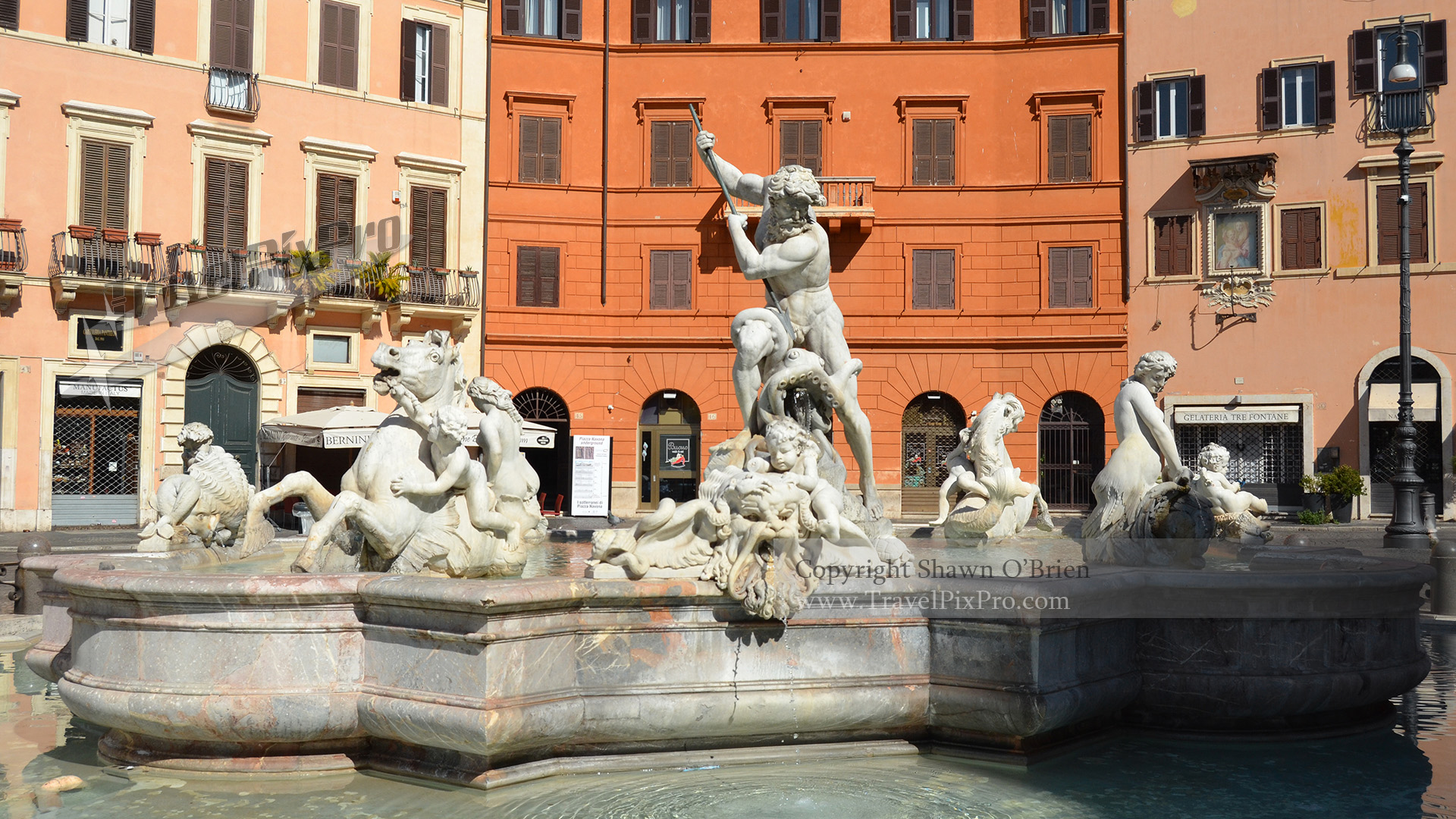 Neptune Fountain Piazza Navona Rome