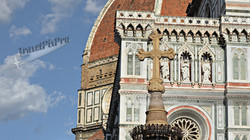 Cross and Duomo Florence Italy