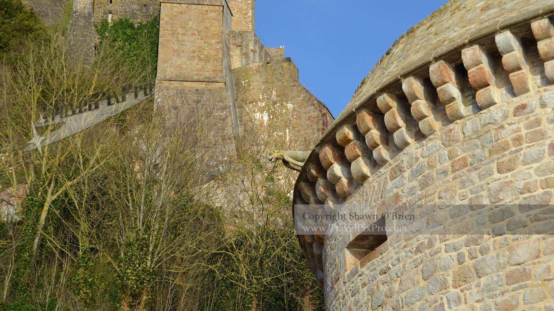 Gabriel Tower Gargoyle Below Le Mont