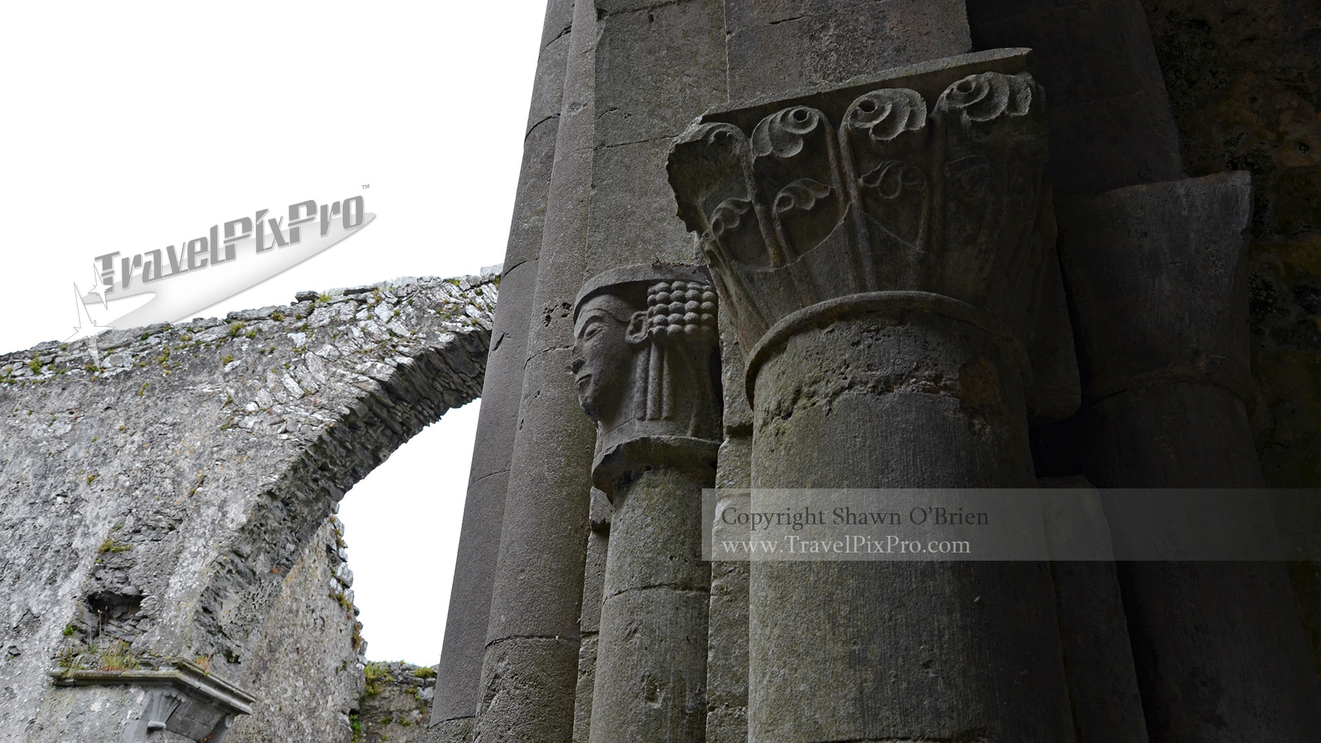 Corcomroe Abbey Column Carving