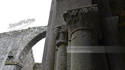Corcomroe Abbey Column Carving