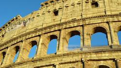 Sunlit Colosseum Exterior Rome