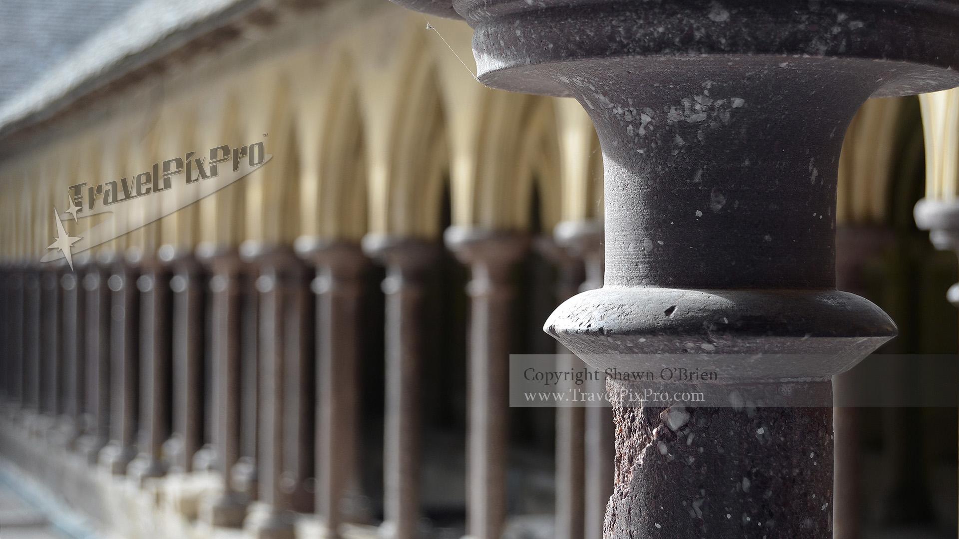 Mont St Michel Cloister Columns