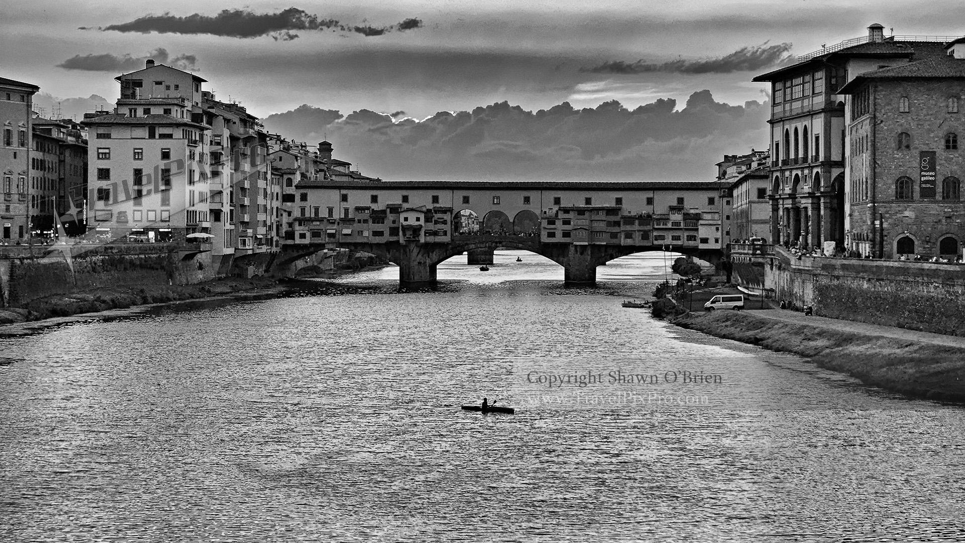 Ponte Vecchio & Arno Florence Italy