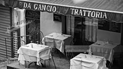Bellagio Italy Trattoria Tables