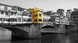 Ponte Vecchio Bridge Color Splash