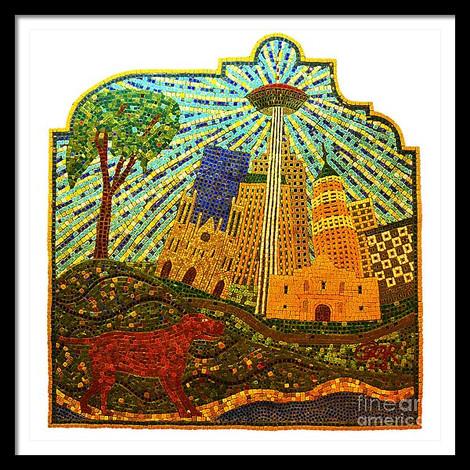 San Antonio Skyline Mosaic