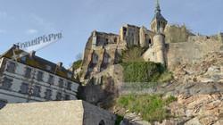 Beneath Mont Saint Michel Abbey