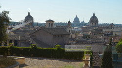 Domes of Rome from Capitoline Hill