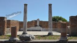 Temple Columns & Mosaic Ostia Antica