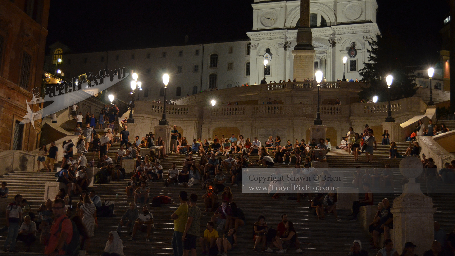 Spanish Steps Evening Rome