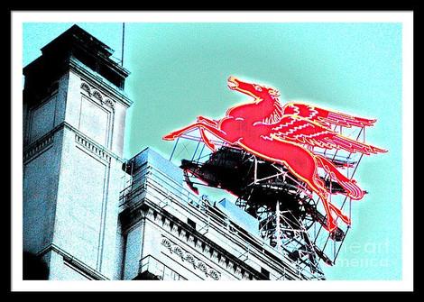 Dallas Red Neon Pegasus