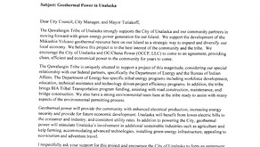 Qawalangin Weighs In To Support Makushin Project