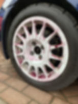 Yum Wheels application on car wheel