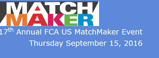 17th Annual FCA US MatchMaker Event