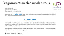 Information aux patients de l'USOS de Villeneuve d'Ascq