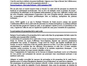 Handident a participé à la contribution de SOSS à la Stratégie Nationale de Santé