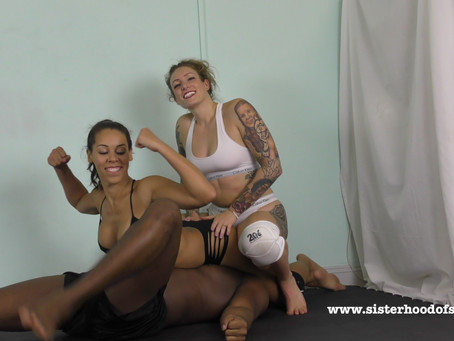 SOS0107 Big black man dominated + humiliated by Laken + Ava Austen