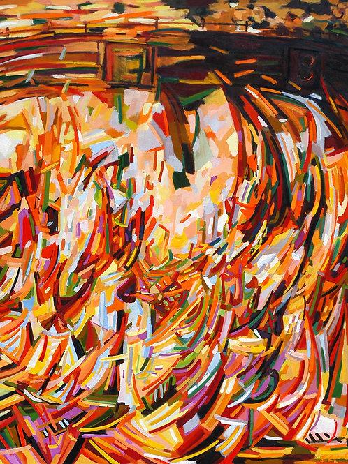 El Salto del Toro 05 óleo 220x170cm