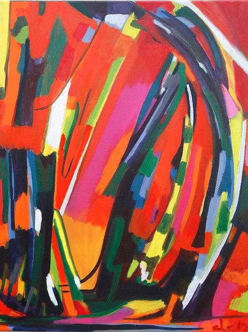 Rojo 11 óleo 61x50cm