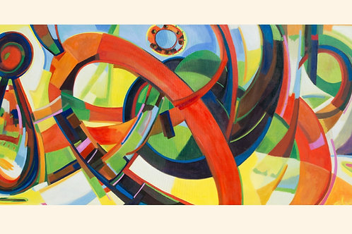 The Time Tunnel 2012 oil 100x220cm