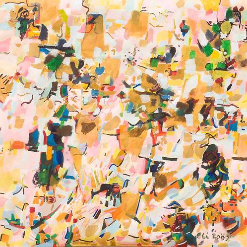 Abstracto Rosa 2002 óleo 130x130cm