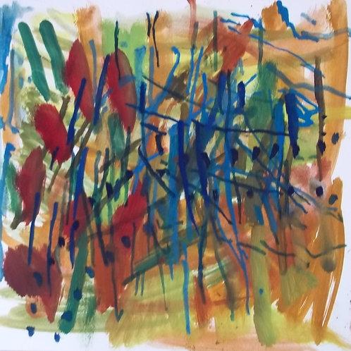 Abst17 paper-oil 30x30cm