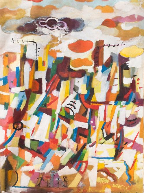 Paisaje Urbano 2003 óleo 170x120cm