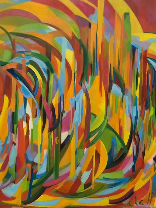 Trance 2011 oil 220x170cm