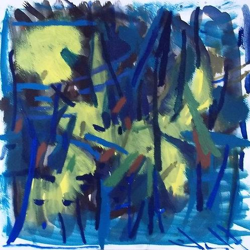 Abst17 oil on paper 30x30cm