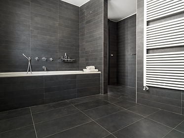 interior view of a modern bathroom in fo