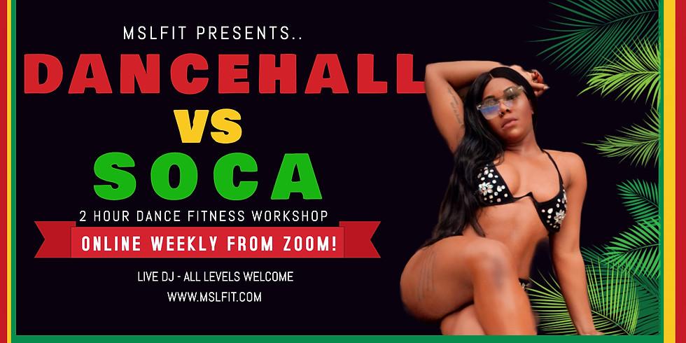 DANCEHALL VS SOCA DANCE FITNESS WORKSHOP
