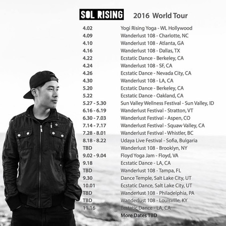 2016 Tour Dates Announced