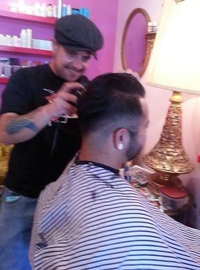 Nick Meinzer, hair stylist at Down At Lulu's