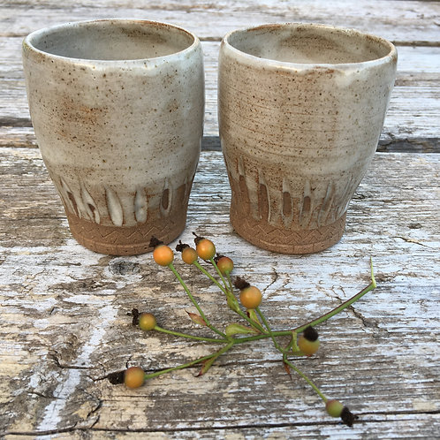 Earthy pair of Tumblers