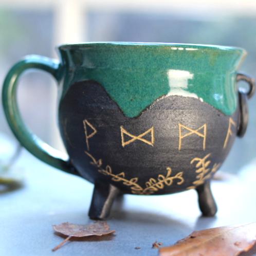 Rune Cauldron Mug (fixed hoop)