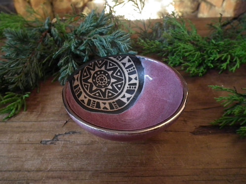 Raspberry Tribal Trinket Dish