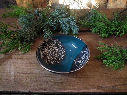 Double Mandala Trinket Dish