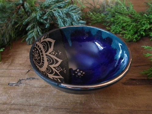 Silver Ocean Mandala Trinket Dish