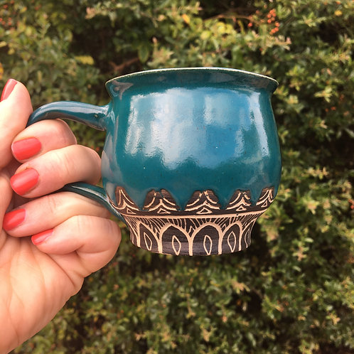 Viridian Forest Tribal Mug