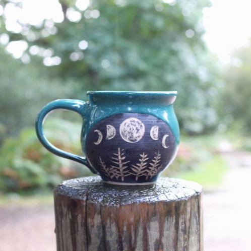 Viridian Moon Mug I