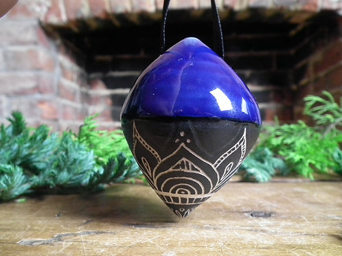 Cobalt Mandala Bauble