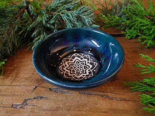 Ocean Mandala Trinket Dish