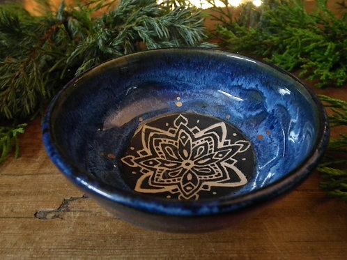 Snow Drift Mandala Trinket Dish