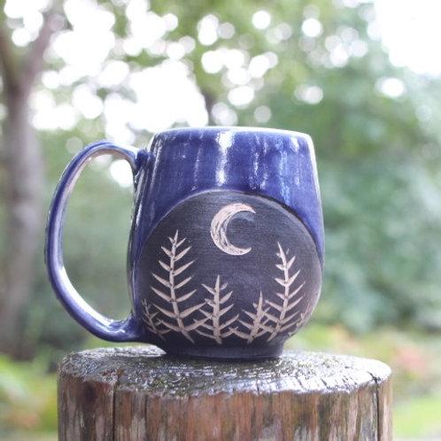 Indigo Forest Moon Mug
