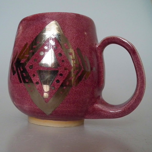 Raspberry and Platinum Mug