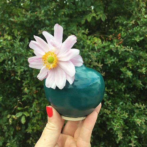 Viridian Forest Bud Vase