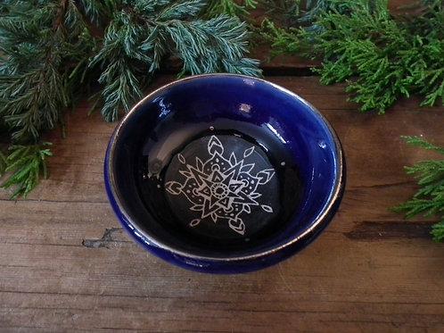 Cobalt Mandala Trinket Dish