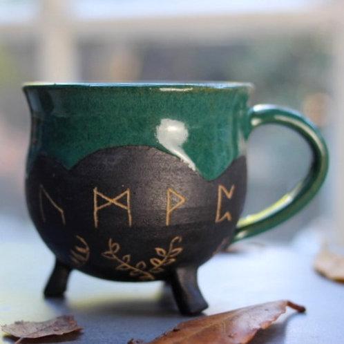 Rune Cauldron Mug- No hoop